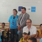 Ted Chaiban visited school 2 in Za'atari refugee camp. ©UNICEF/Jordan/2013/Romboli