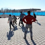 Syrian children who live at the camps love playing football.  ©UNICEF/Turkey-2013/Yurtsever