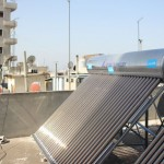 Solar energy tapped to bring hot water to a shelter in Homs