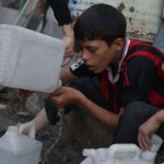 Amid rising water scarcity in wartorn Syria, children take on the task of bringing supplies home